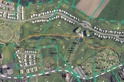 Tracé promenade golf habitat